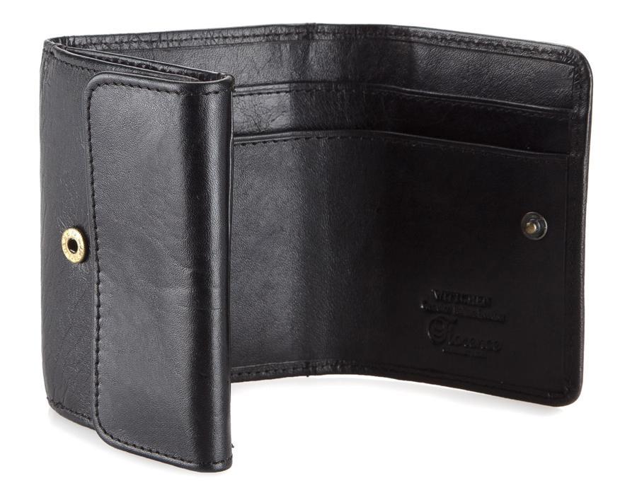 czarny portfel meski